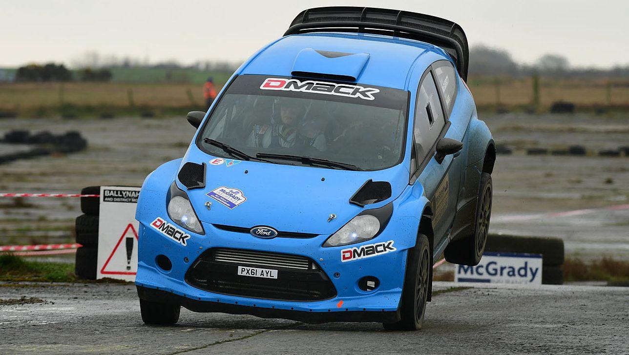 Derek McGarrity in his Fiesta WRC