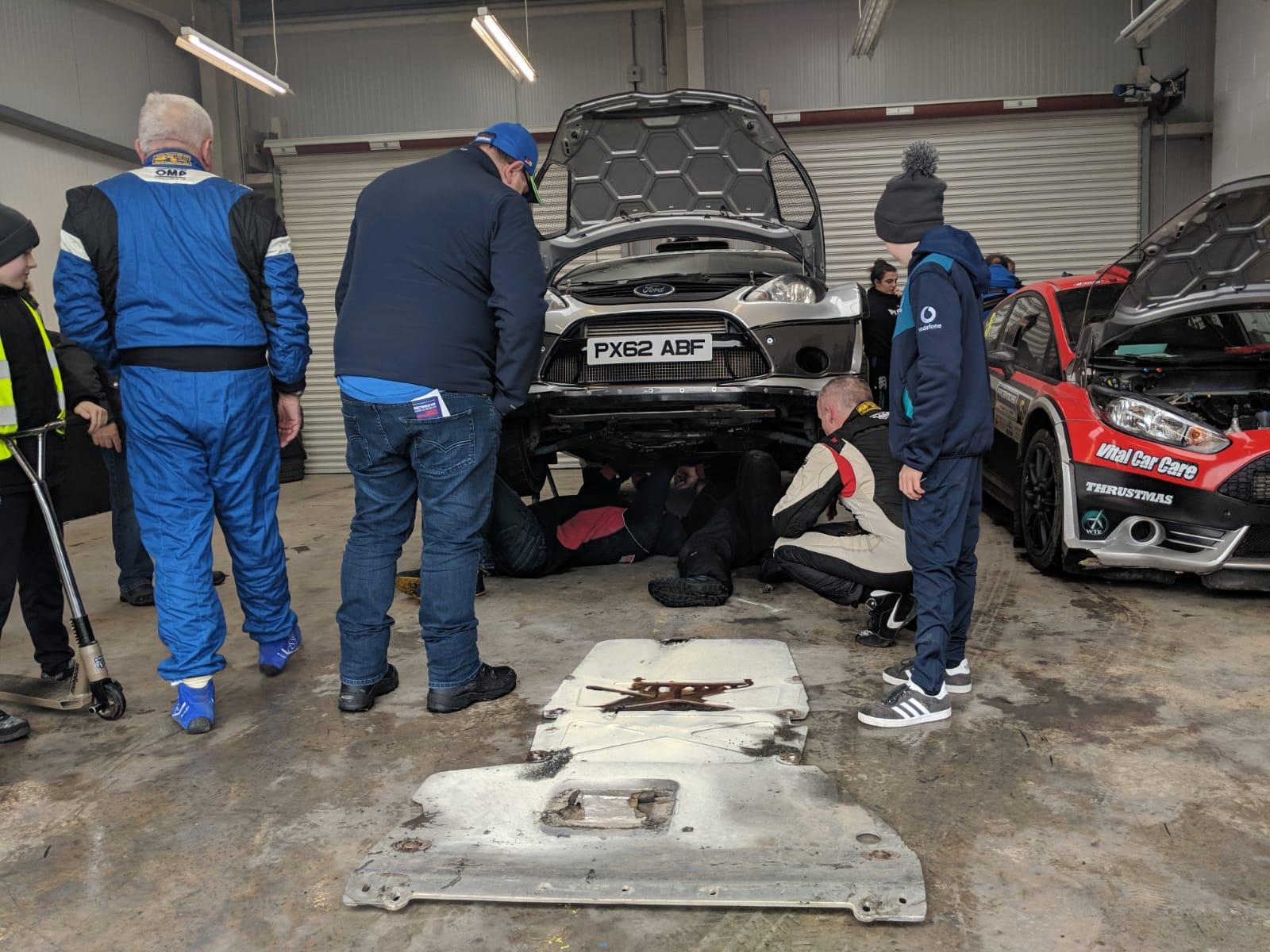 Derek McGarrity's stricken Fiesta WRC